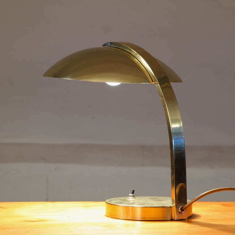 high end luxury all brass table lamp at 1stdibs. Black Bedroom Furniture Sets. Home Design Ideas