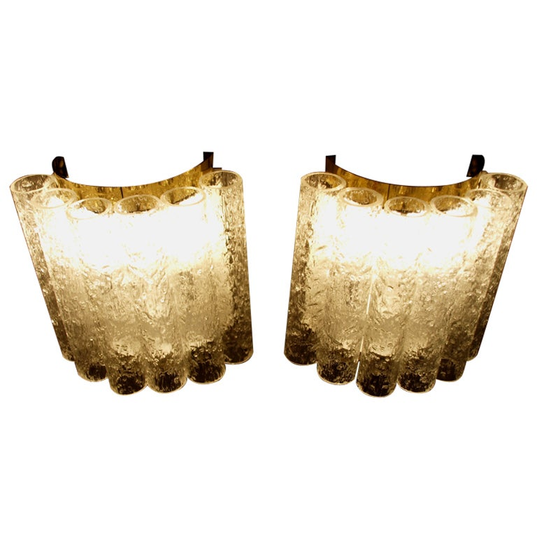 Wall Sconces High End : Wonderfull Pair of High-End Doria Wall Lamps at 1stdibs