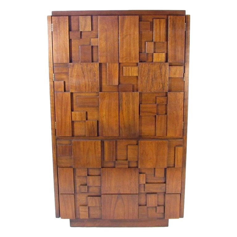 Lane Switchblade Coffee Table: Lane Mosaic Tall Dresser At 1stdibs