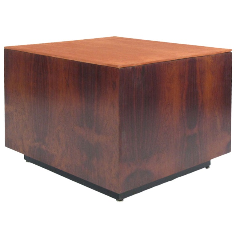 Danish Rosewood Cube Table At 1stdibs