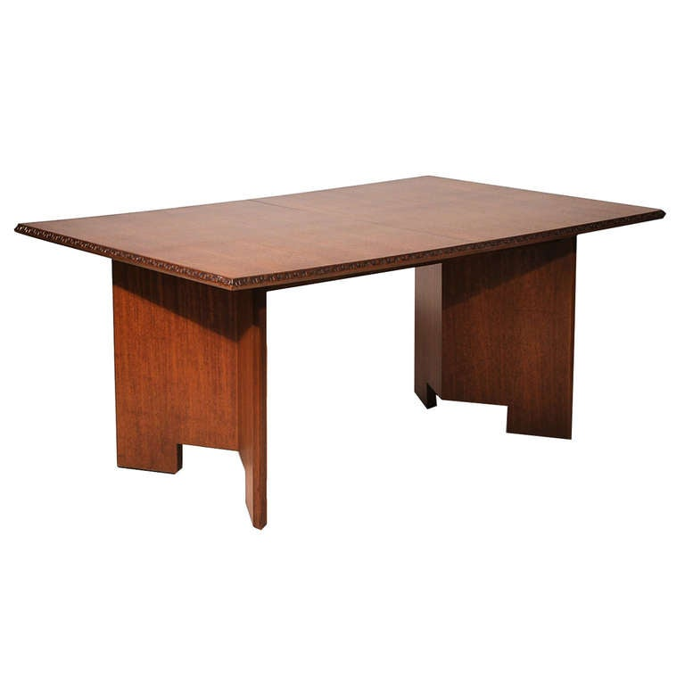 Frank Lloyd Wright Mahogany Dining Table At 1stdibs