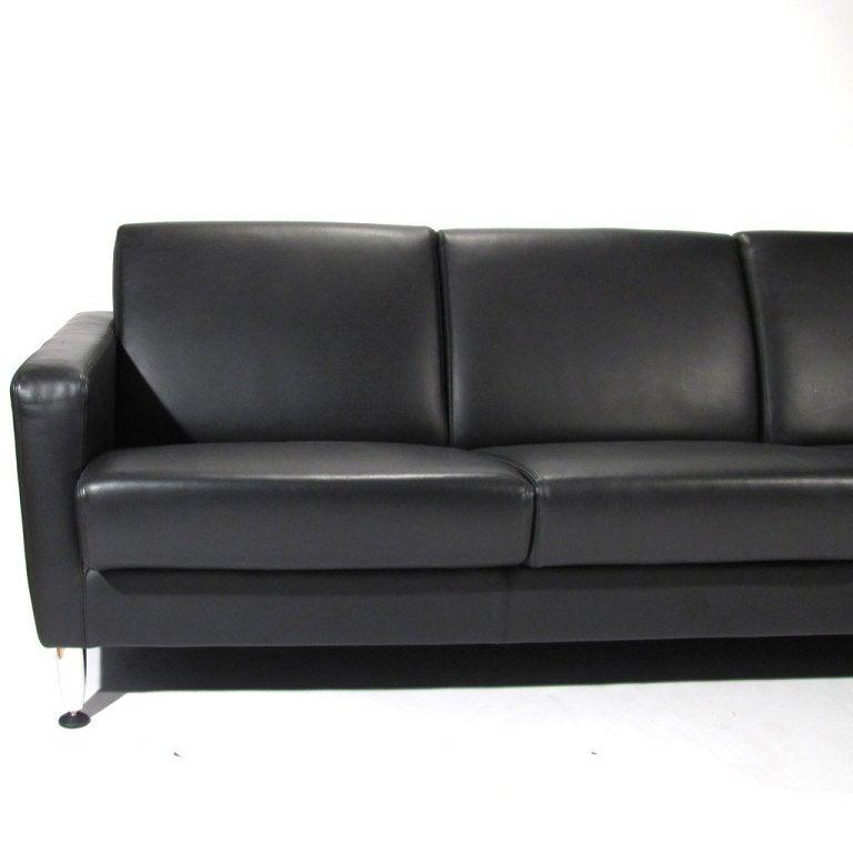 Moroso Italian Leather Sofa At 1stdibs