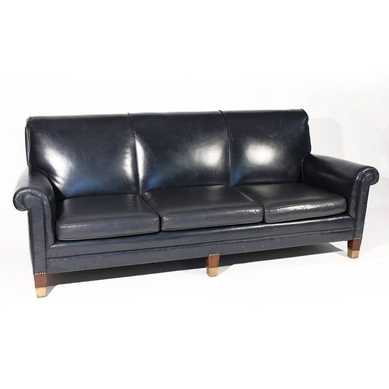 Navy Blue Leather Sofa And Loveseat Smileydot Us