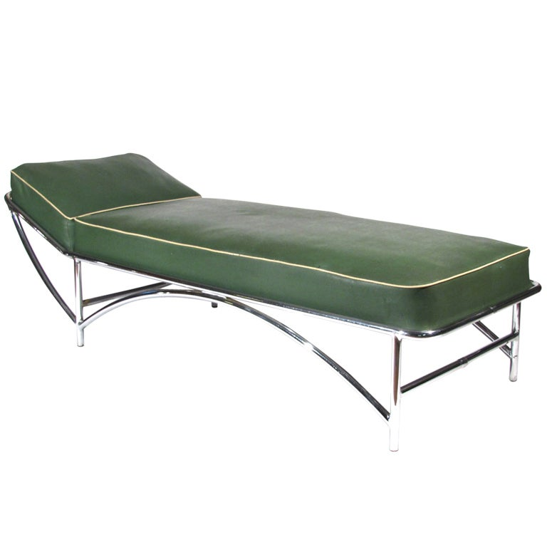 Kem weber art deco chaise longue at 1stdibs for Art deco chaise lounge
