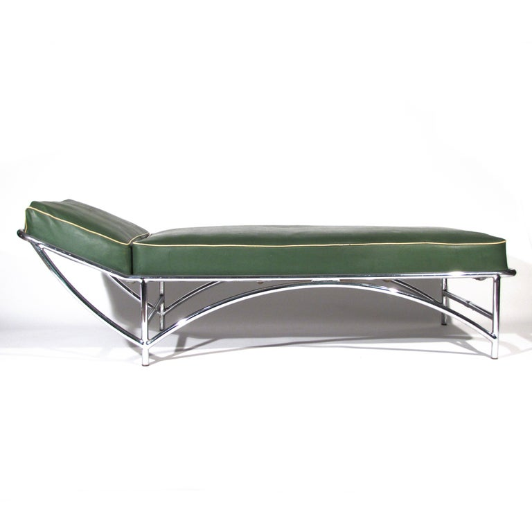 kem weber art deco chaise longue at 1stdibs