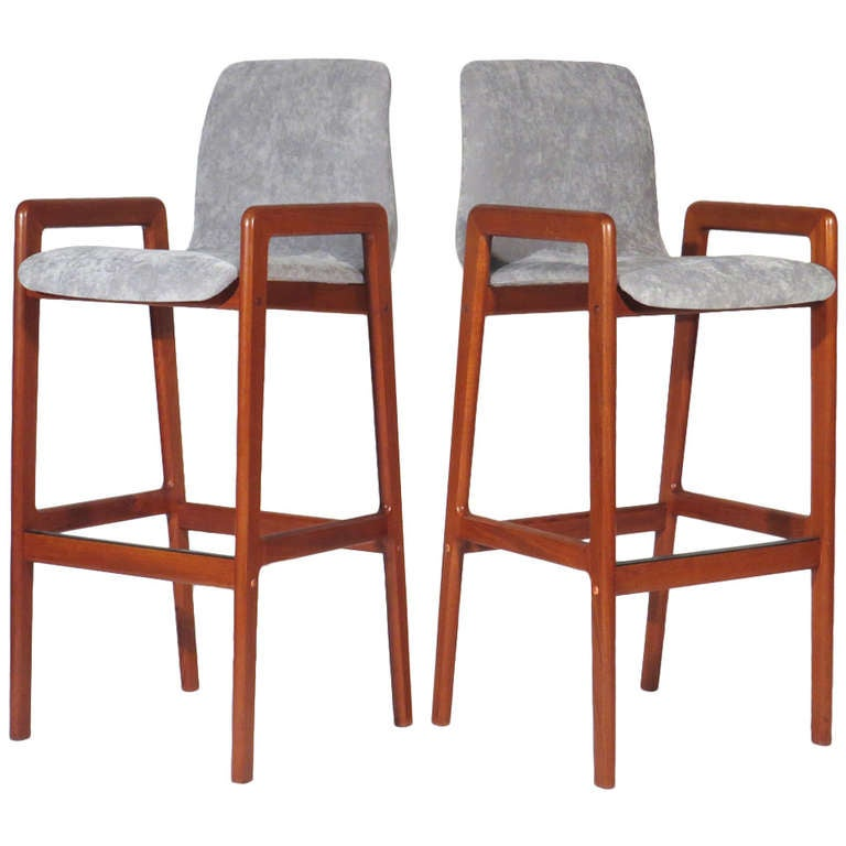 Danish Teak Barstools At 1stdibs
