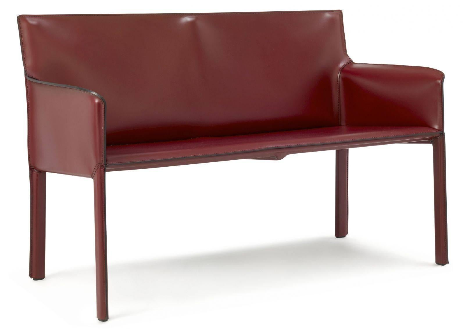 Italian Modern Office Leather Sofa Made in Italy 30 Leather Colors