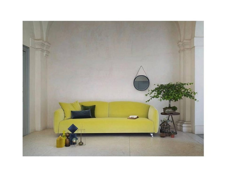 Modern Italian Designer Sofa Made in Italy, Fabric or Leather Upholstery