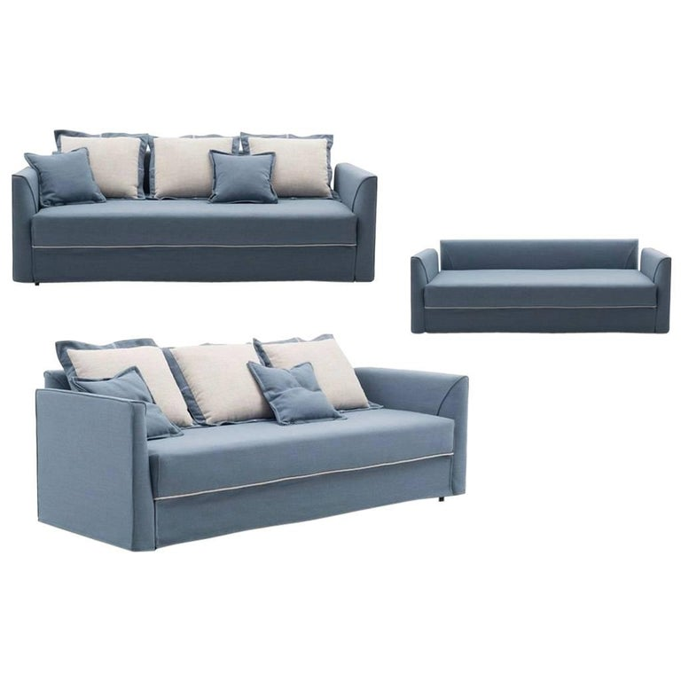 Modern Italian Sofa Bed With Trundle Or Storage Drawers Made In Italy For