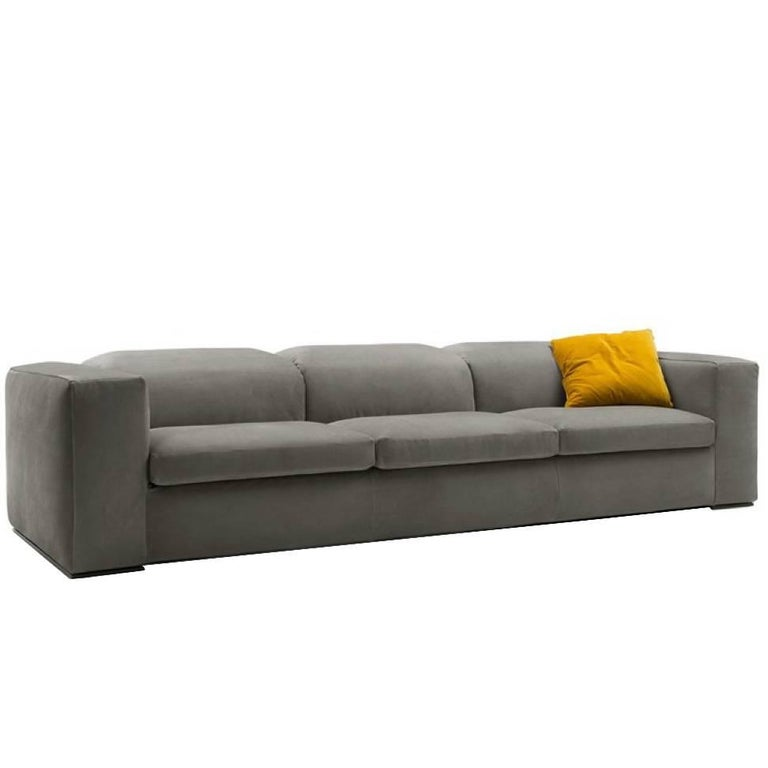 Italian Modern Sofa with Adjustable Back Cushions, Made in Italy