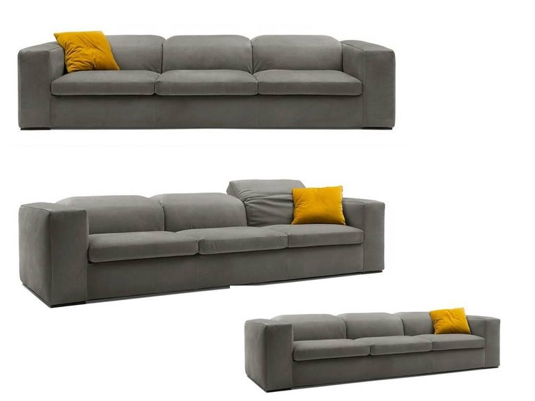 Italian Modern Sofa with Adjustable Back Cushions, Made in Italy For ...