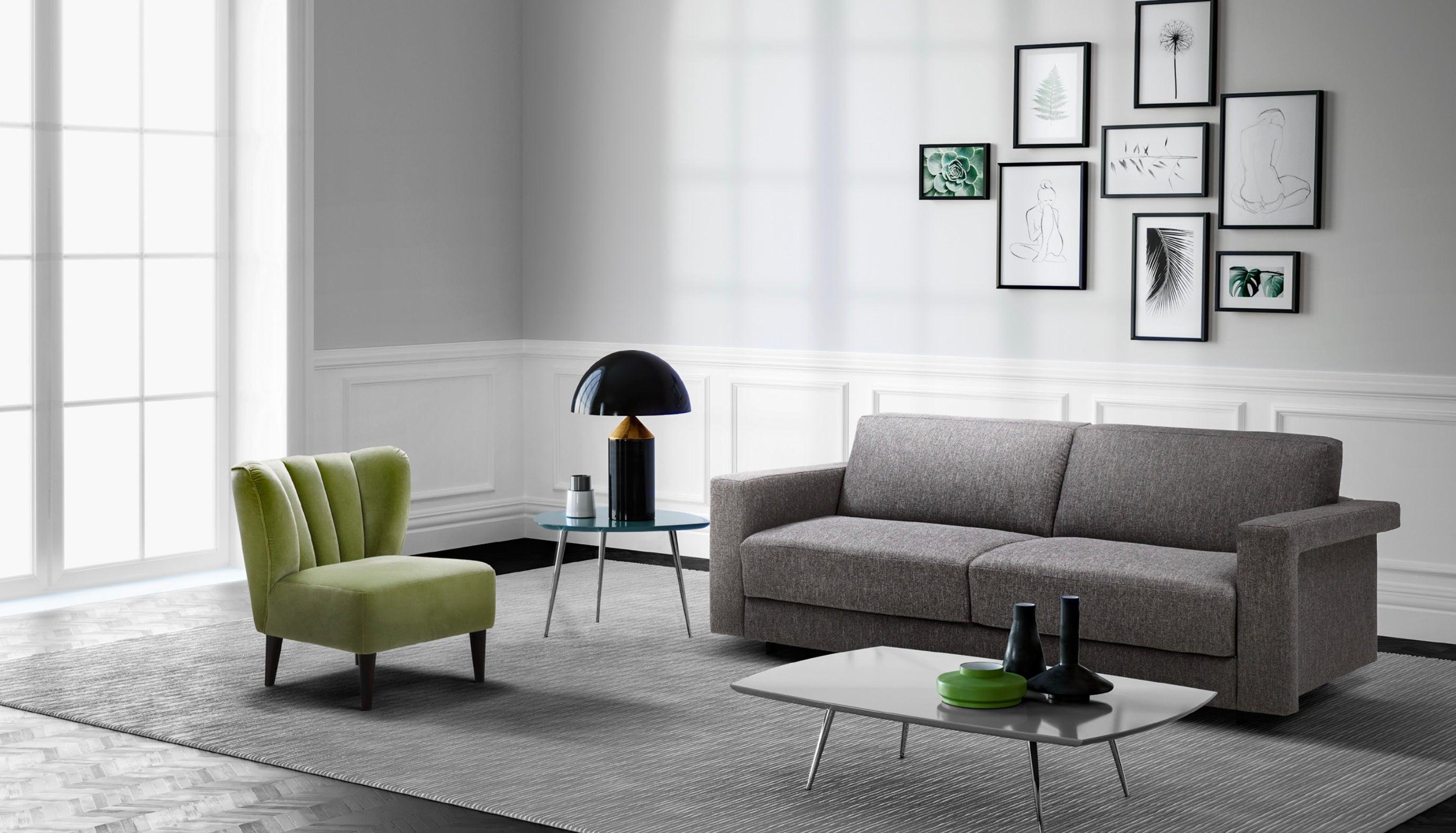 Modern Italian Sofa Bed, Convertible Sleeper Sofa Contemporary Design
