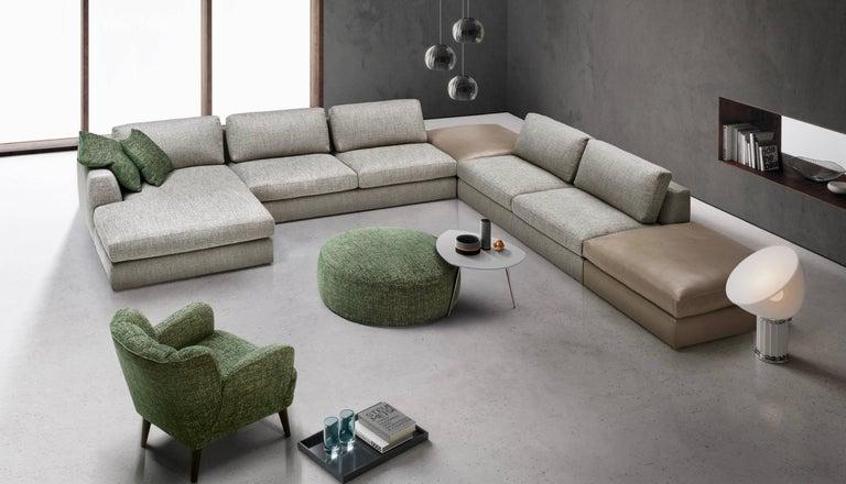 Italian Modular Designer Sofa, Design Giulio Manzoni, Made in Italy ...