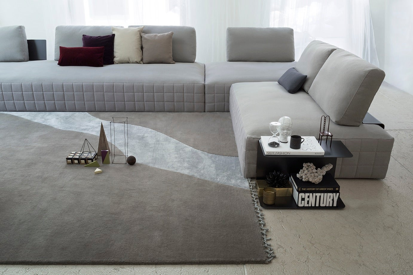 Italian Modular Sectional Sofa, Modern Design Made In Italy For Sale At  1stdibs