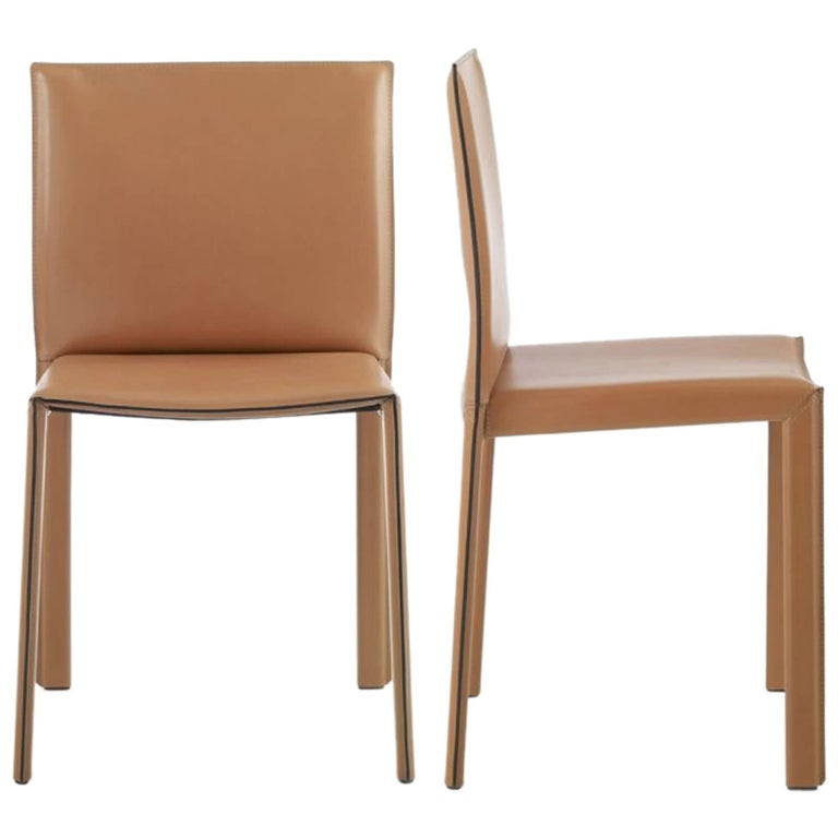 Italian Modern Dining Room Chair Leather Cover