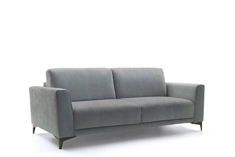 Modern Italian Sofa Bed, Fabric, Contemporary Design Made in Italy