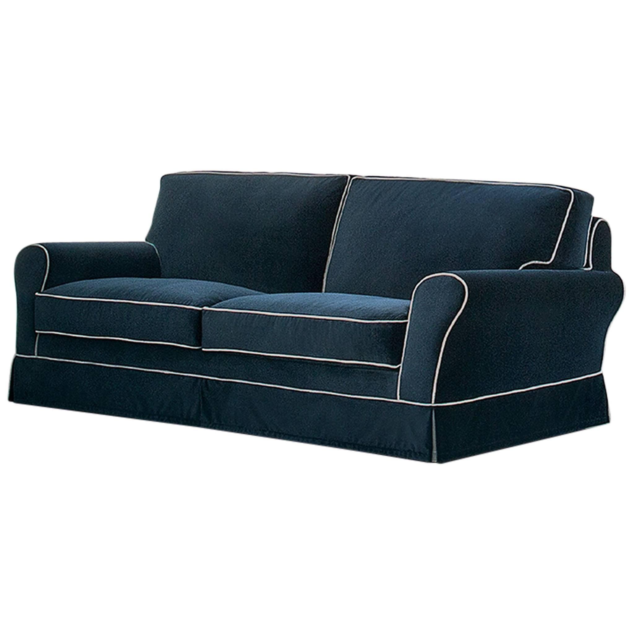 Italian Contemporary Sofa Muran, Made In Italy, Fabric, New