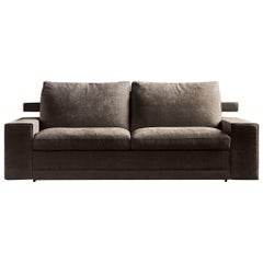 Italian Modern Sofa Bed with Adjustable Back, Made in Italy