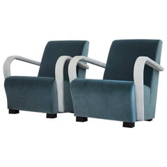 Contemporary Italian Armchair AC08, Made in Italy, New, Fabric