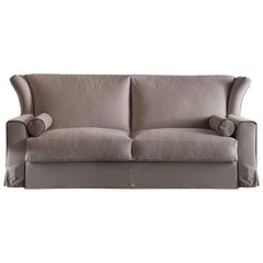 Contemporary Italian Sofa Bed Sb80, Made in Italy, Fabric, New