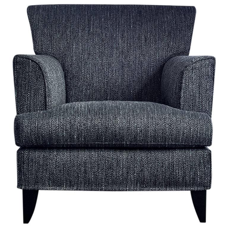 Italian Designer Fabric Arm Chair For Sale At 1stdibs