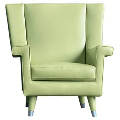 Italian Modern leather or fabric Armchair, Made in Italy