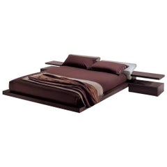 Modern Italian Furniture Platform Bed, King Size, Made in Italy