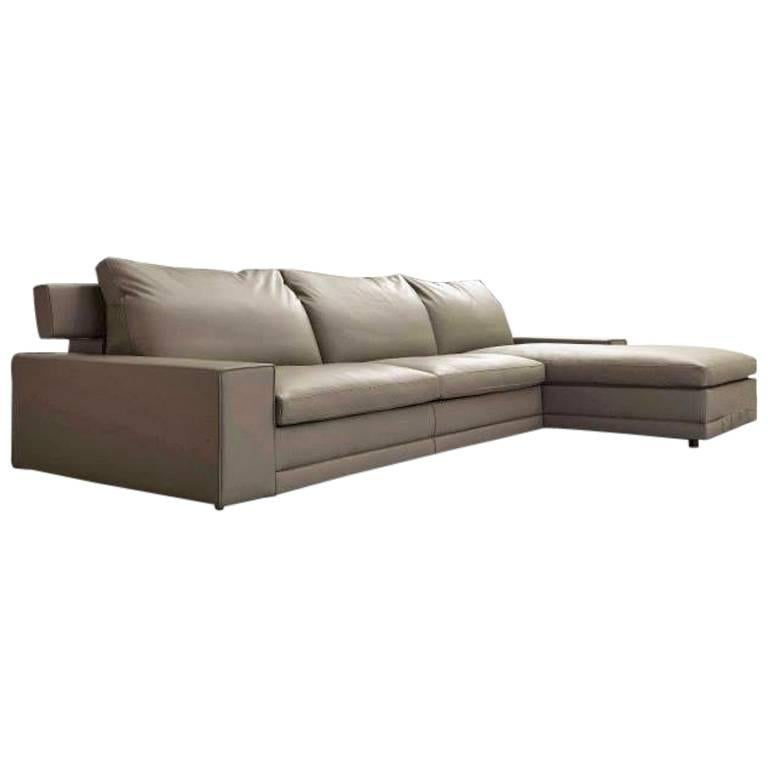 Modern Designer Sectional Sofa Bed available in fabric or leather made in  Italy