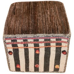 Decorative Kilim Footstool, Middle East, Contemporary