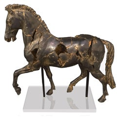Alabaster Horse Statue, Thailand, Contemporary