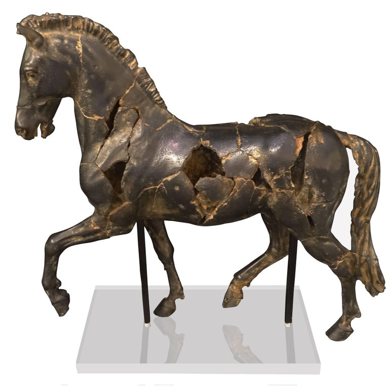 Alabaster Horse Statue, Thailand, Contemporary For Sale