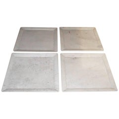 Large Square Marble Plates