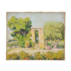 French 1890s Oil on Canvas Landscape Impressionist Painting from Aix-en-Provence