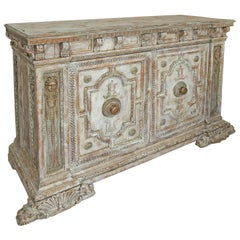Superb 18th c. Hand Paint Italian Two-Door Cupboard from Gianni Versace Mansion