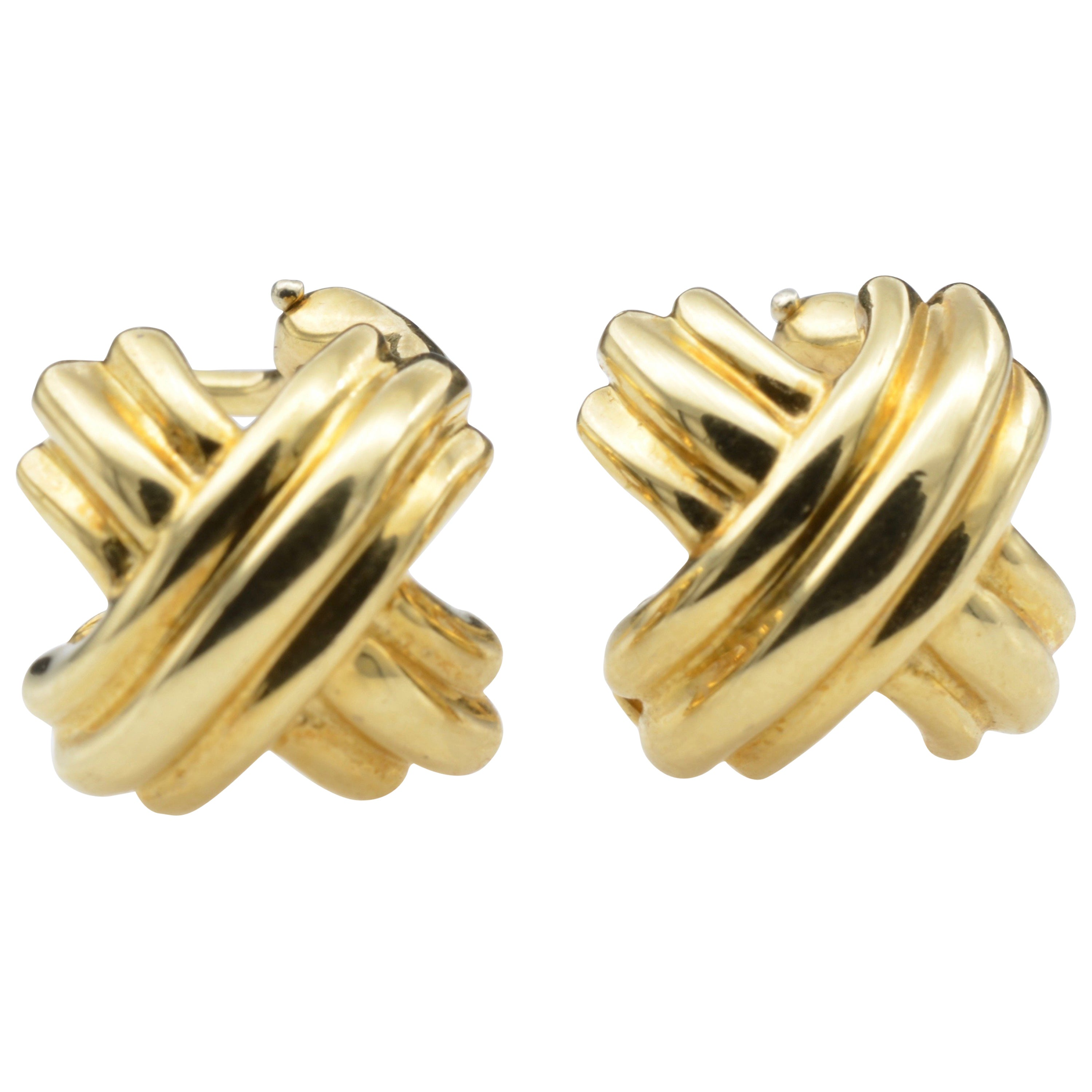 e687f1b15 Tiffany and Co. 18 Karat Yellow Gold Clip Earring by Paloma Picasso For  Sale at 1stdibs