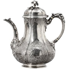 Rare R.s. Garrard & Co London  Silver Coffeepot From 1899.