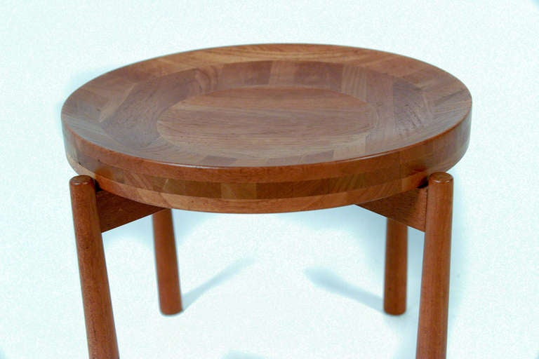 Small Danish Fruit Round Table By Jens Quistgaard For
