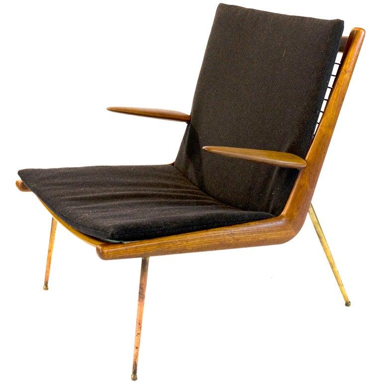 Peter Hvidt Boomerang chair for France and Daverkosen at