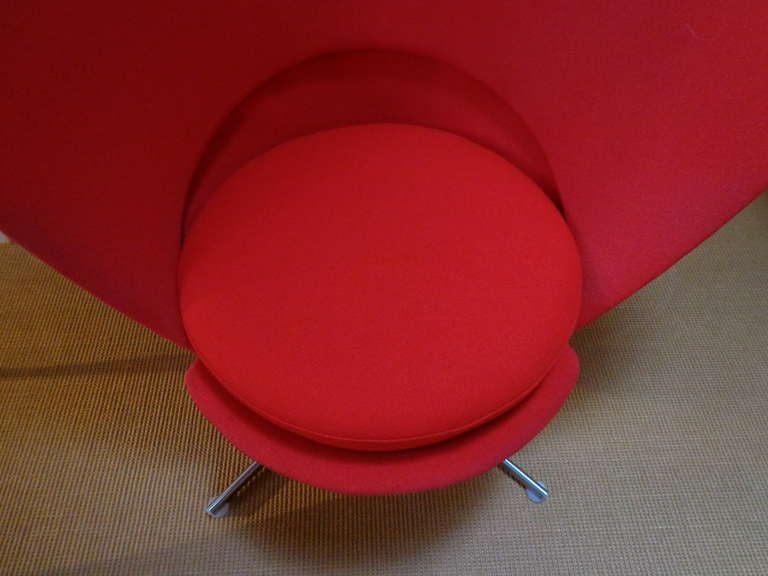Heart Cone Chair by Verner Panton, Denmark In Good Condition For Sale In Amsterdam, NL