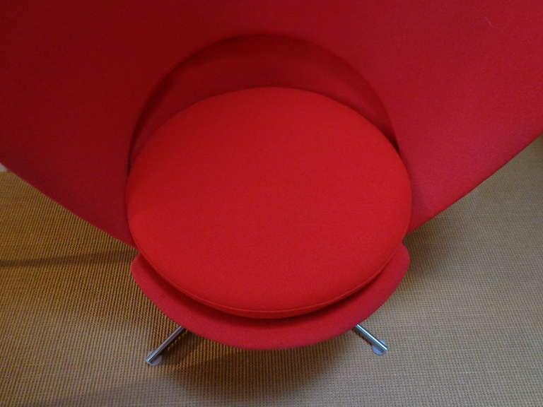 Heart Cone Chair by Verner Panton, Denmark 5