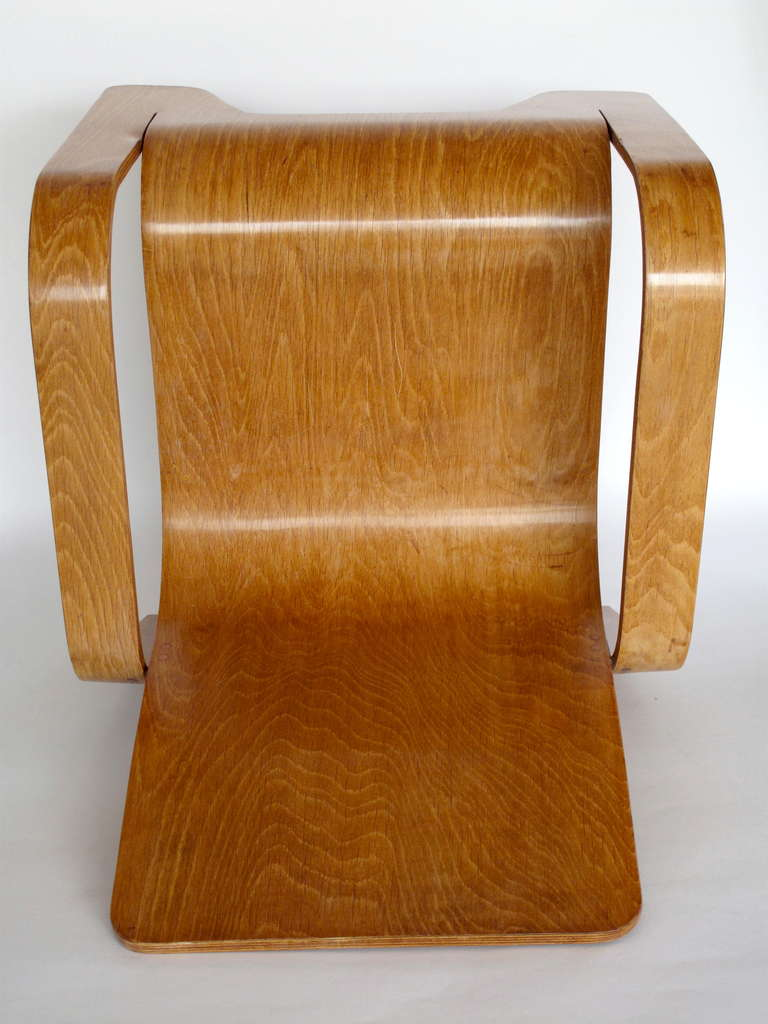 Pair of plywood Lounge Armchairs by Han Pieck Made by Lawo, Netherlands, 1940s For Sale 3