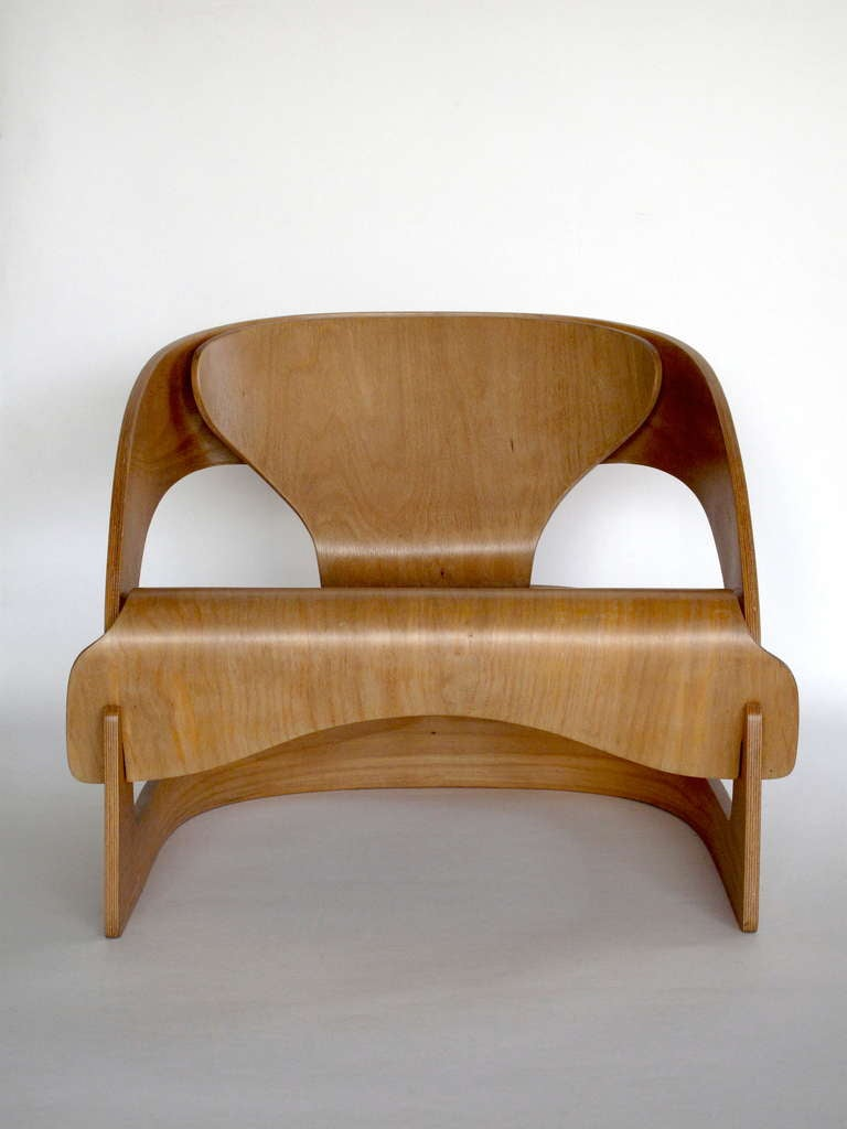 plywood 4801 lounge chair by joe colombo for kartell at 1stdibs. Black Bedroom Furniture Sets. Home Design Ideas