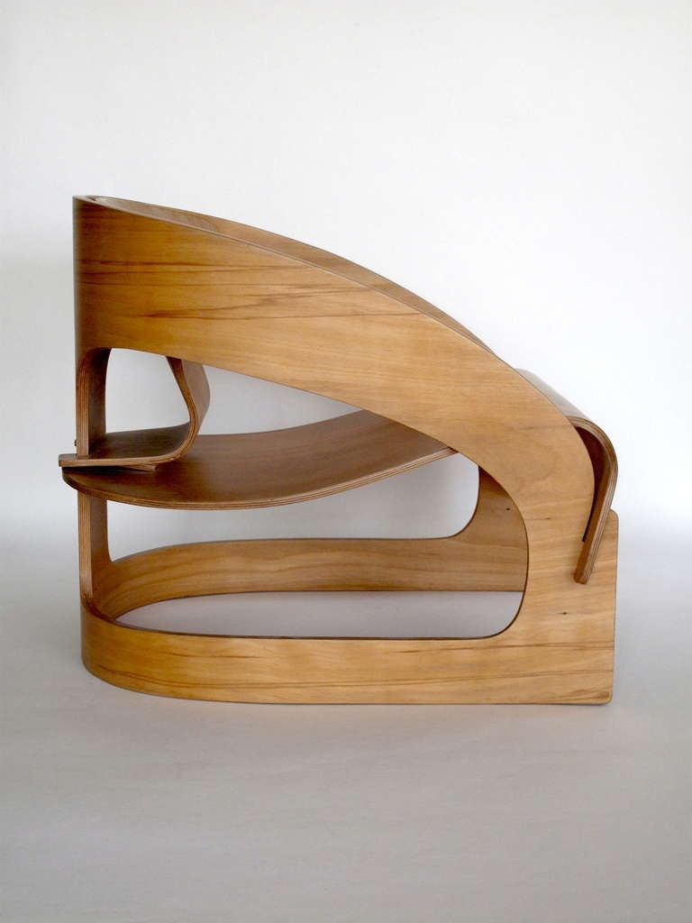 Plywood 4801 Lounge Chair By Joe Colombo For Kartell At