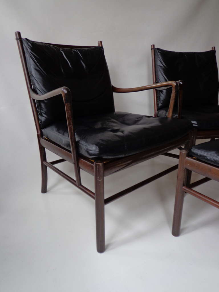 39 colonial 39 armchairs and ottoman by ole wanscher for p for P jeppesen furniture