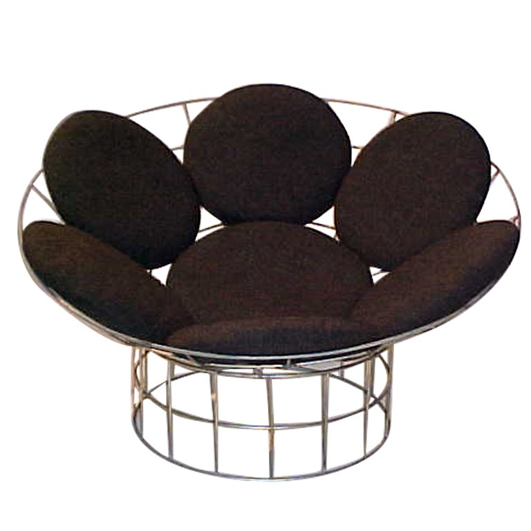 peacock lounge chair by verner panton for plus linje for sale at 1stdibs. Black Bedroom Furniture Sets. Home Design Ideas