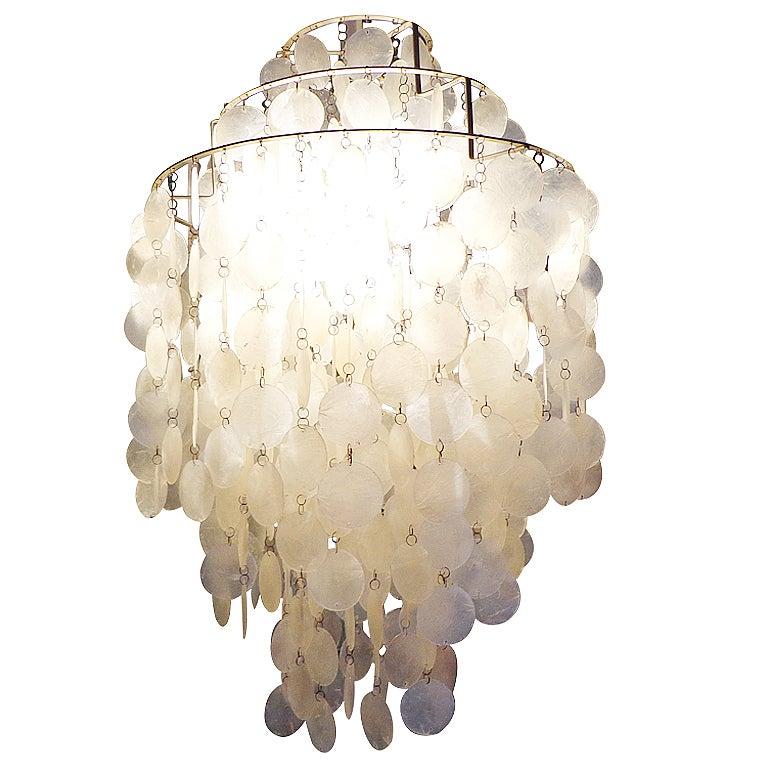 Fun 1 DM Shell Lamp By Verner Panton For L Ber Switzerland At 1stdibs