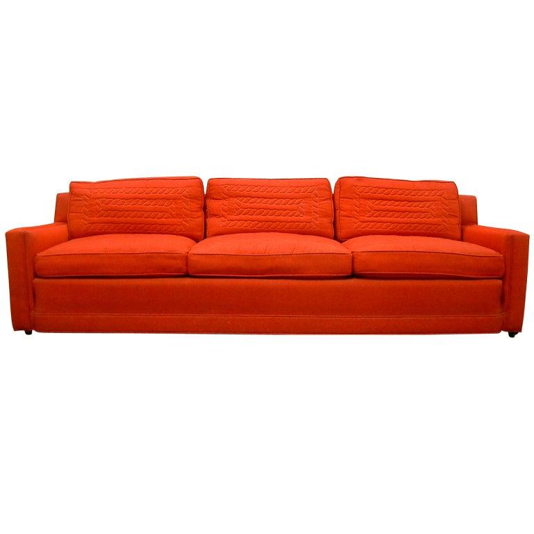 Custom Red Pullman Sofa At 1stdibs