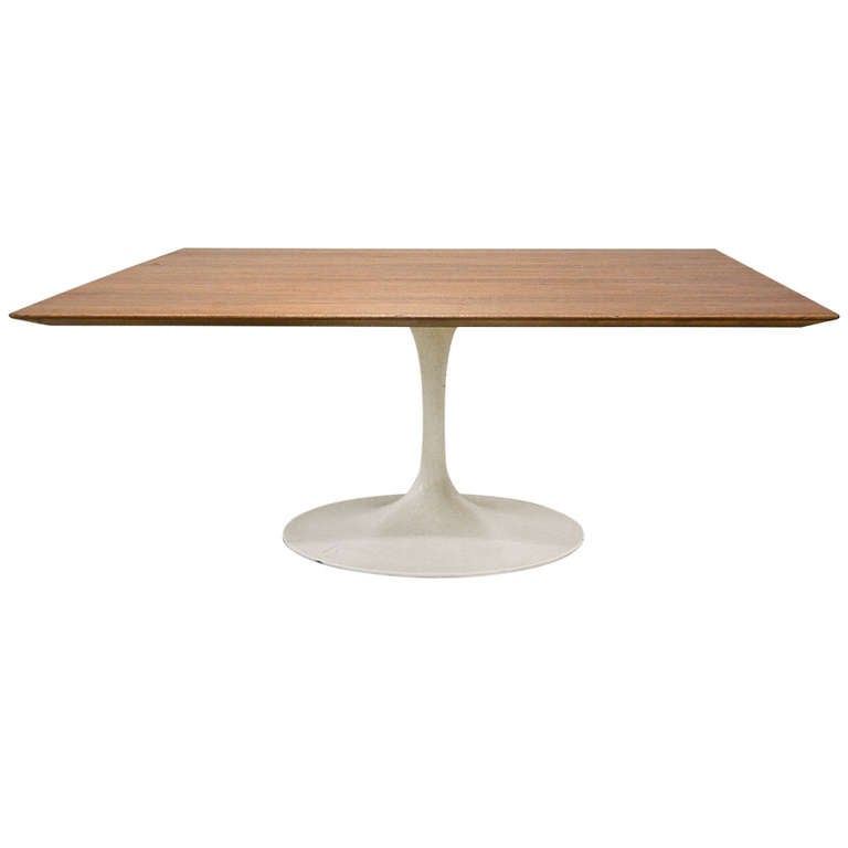Buy Walnut And Black Metal Square Coffee Table From Fusion: Walnut And Polychromed Steel Eero Saarinen Style Pedestal