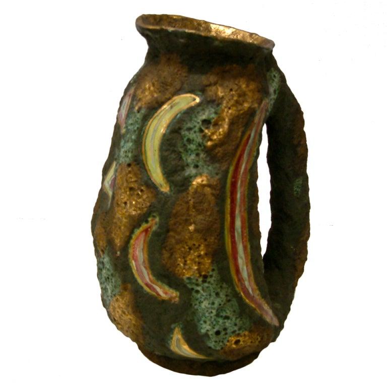 Italo Casini Lava Glaze Ceramic Ewer at 1stdibs : XXXCL1302240182 from 1stdibs.com size 768 x 768 jpeg 55kB
