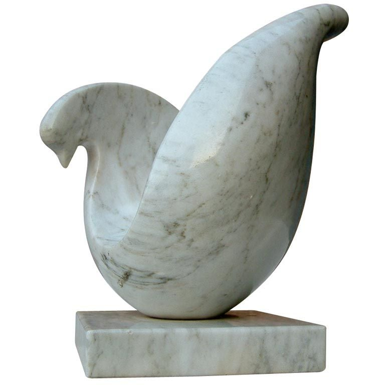 Stylized Marble Dove Sculpture At 1stdibs